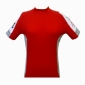 Maillot manches courtes rouge blanc