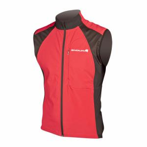 Gilet velo ENDURA Windchill rouge