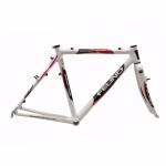 Cadre cyclo cross carbone Felino Leopardo blanc + fourche