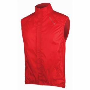 Coupe vent Endura sans manches Pakagilet rouge