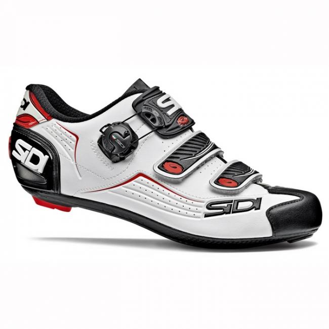 chaussures sidi alba blanc noir rouge taille 43 soldes. Black Bedroom Furniture Sets. Home Design Ideas