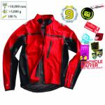Veste velo impermeable ENDURA Stealth rouge - Plus d